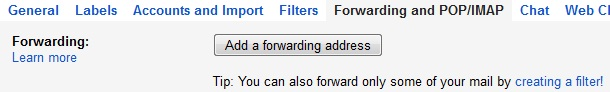 Forwarding emails from one address to another automatically