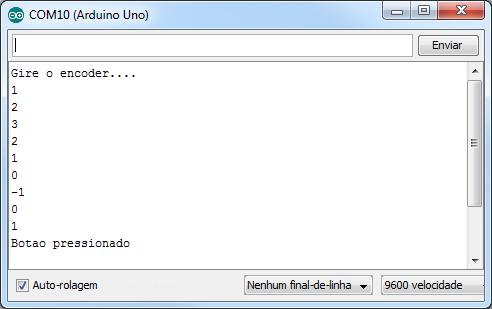 Teste encoder Arduino