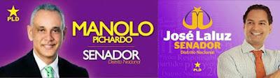Manolo Pichardo, Jose Laluz, precandidatos senador PLD