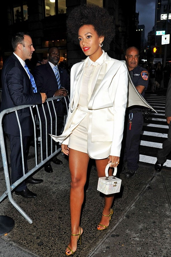 solange knowles all white short outfit