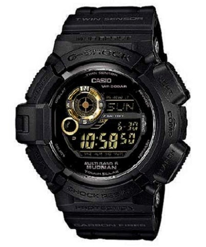 Casio G-Shock G9300GB-1 Black And Gold Digital Compass Watches