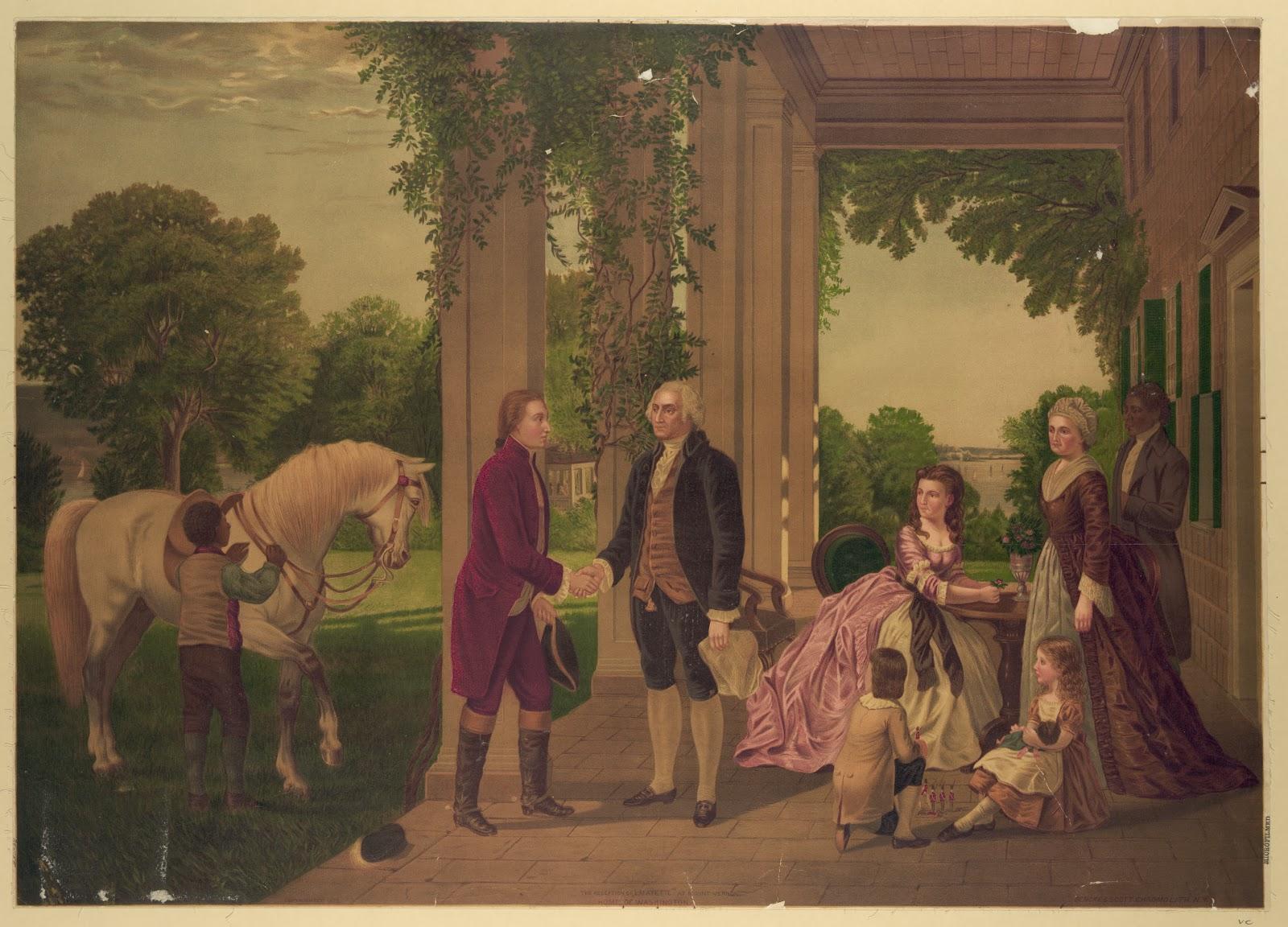 Washington Lafayette Mount Vernon