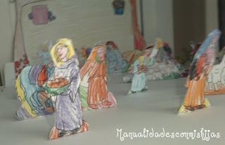 Navidad - Belén para colorear con niños