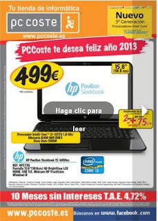 PC Coste catalogo enero 2013