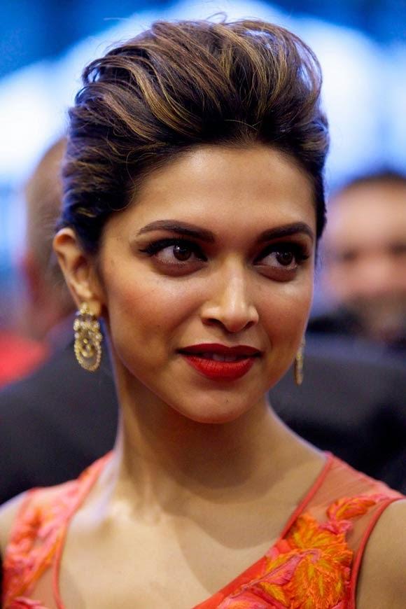 Deepika Padukone rough hair style