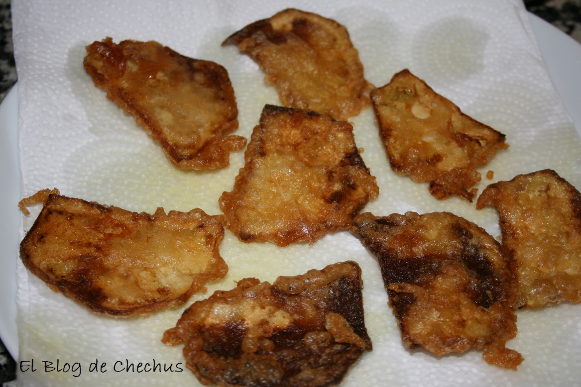Chips de berenjenas, el blog de chechus