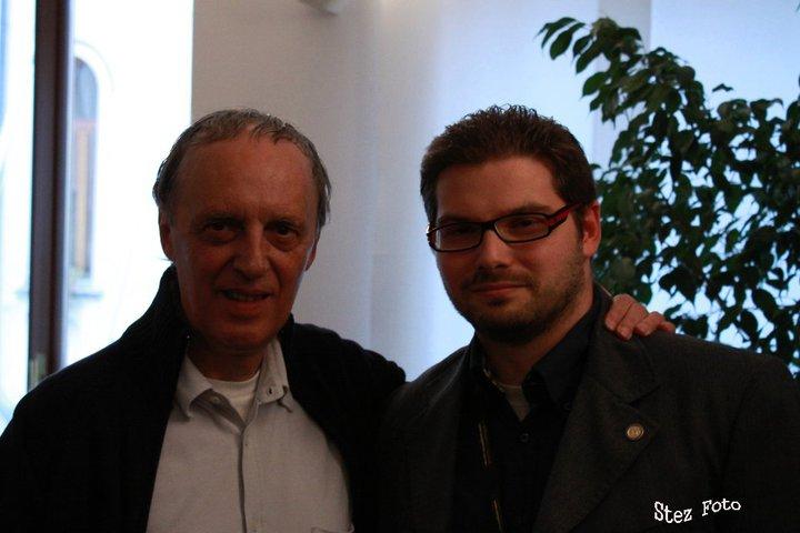 Luca Bagatin con Dario Argento (settembre 2008)