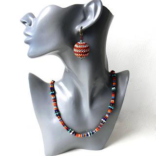 купить этнические украшения из бисера украина подарок женщине девушке