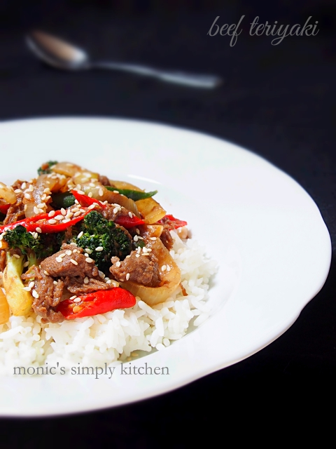 resep simple beef teriyaki saori