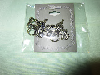 ZAD gold octopus earrings