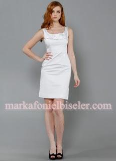 herry 2011 markafoni elbiseler beyaz kısa etekli elbise modeli
