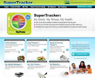 screenshot of SuperTracker website