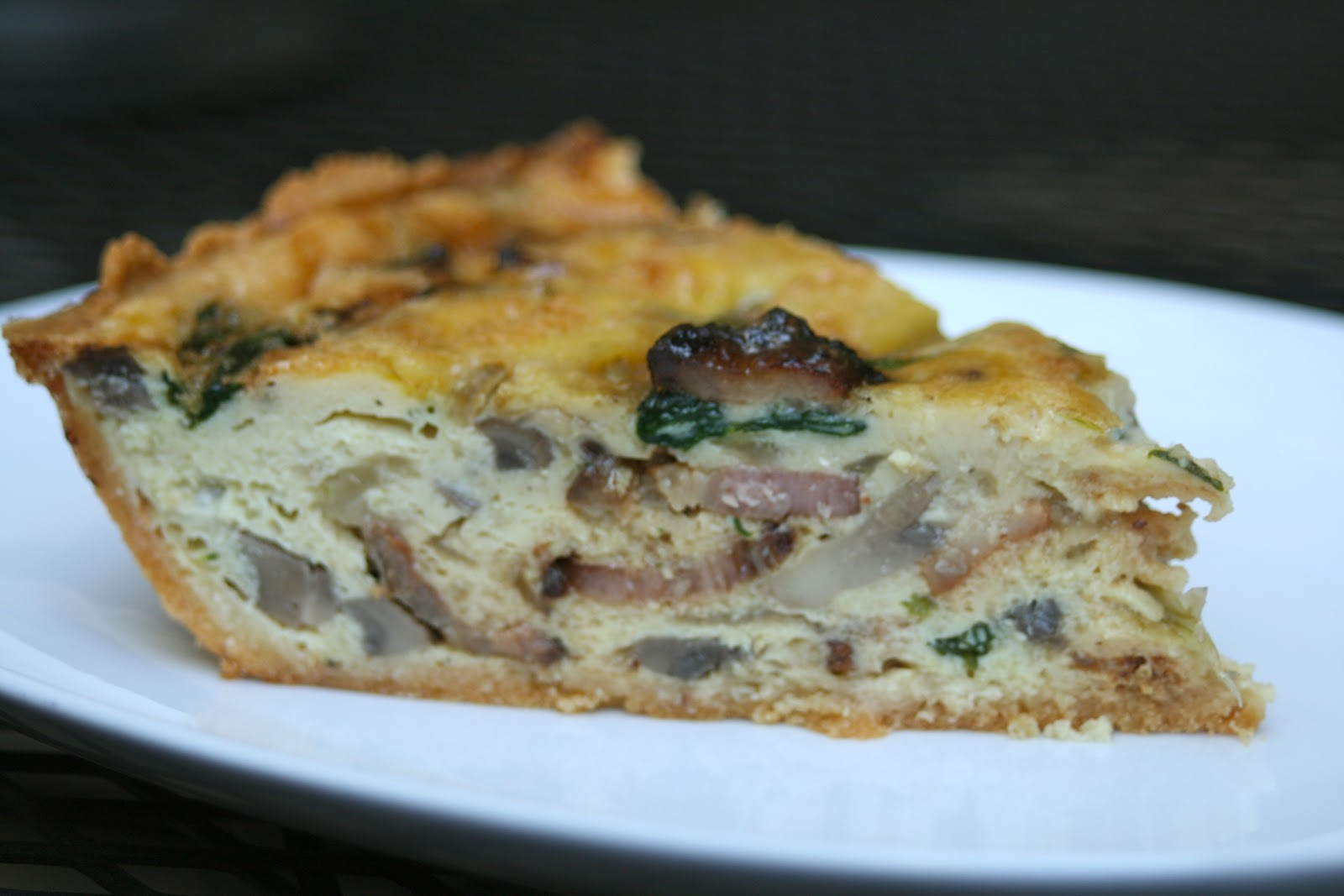 CupcakesOMG!: Bacon Quiche with Paleo Almond Flour Crust