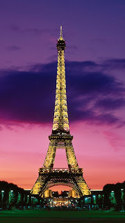 Eiffel Tower at Night Wallpaper for iPhone 5