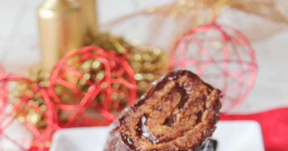 cocinando entre olivos tronco de navidad relleno de crema