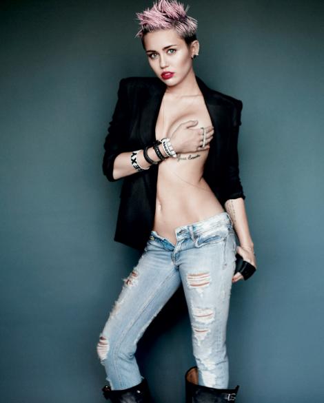 Miley Cyrus by Mario Testino for V Magazine #83