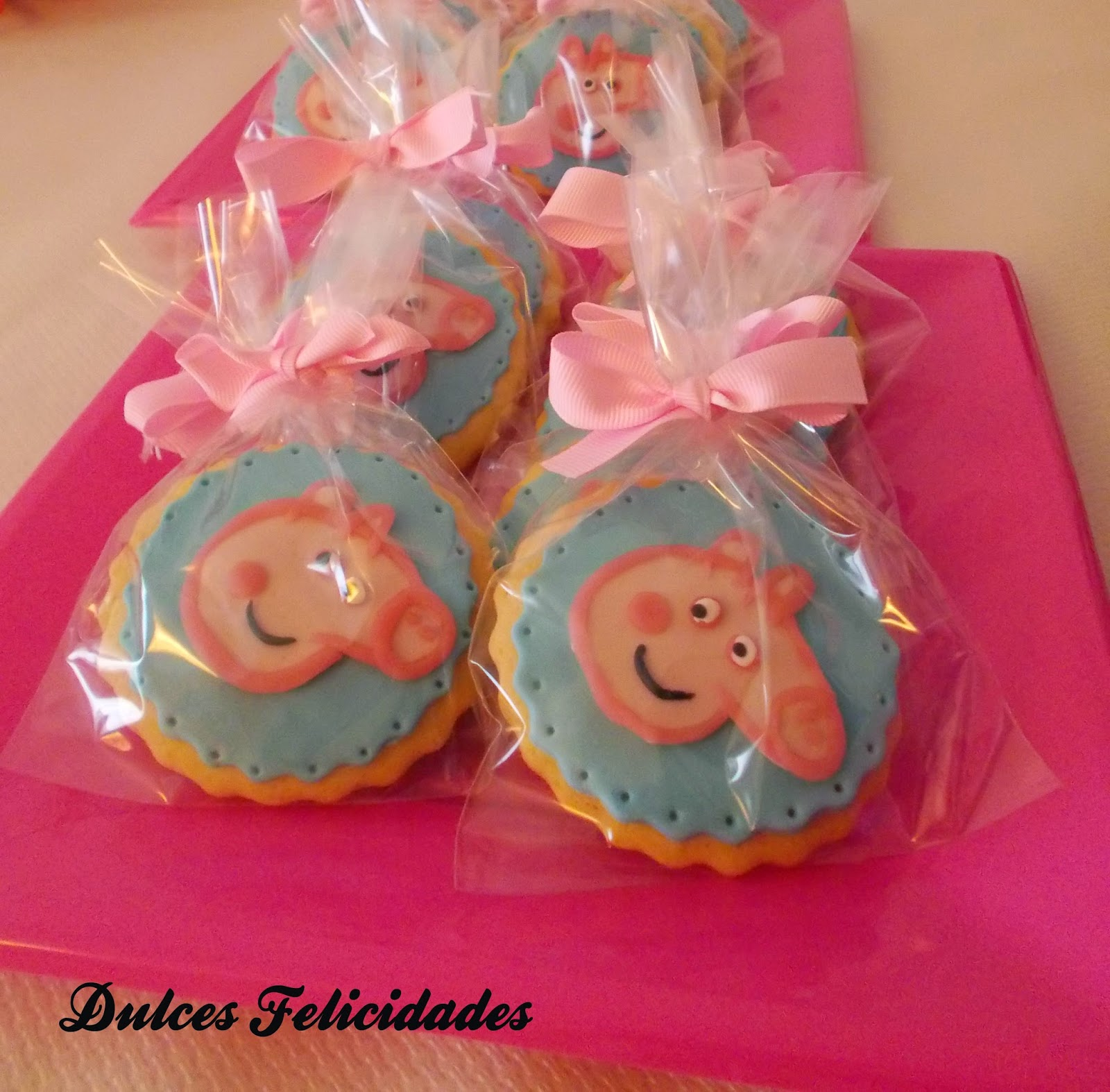 Galletas Peppa Pig fondant