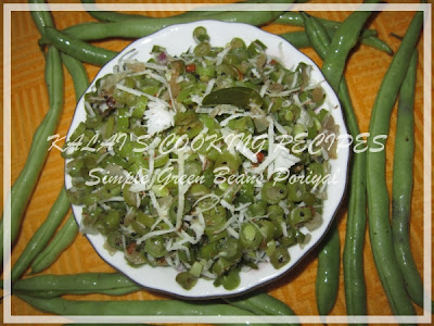 Simple Green Beans Poriyal