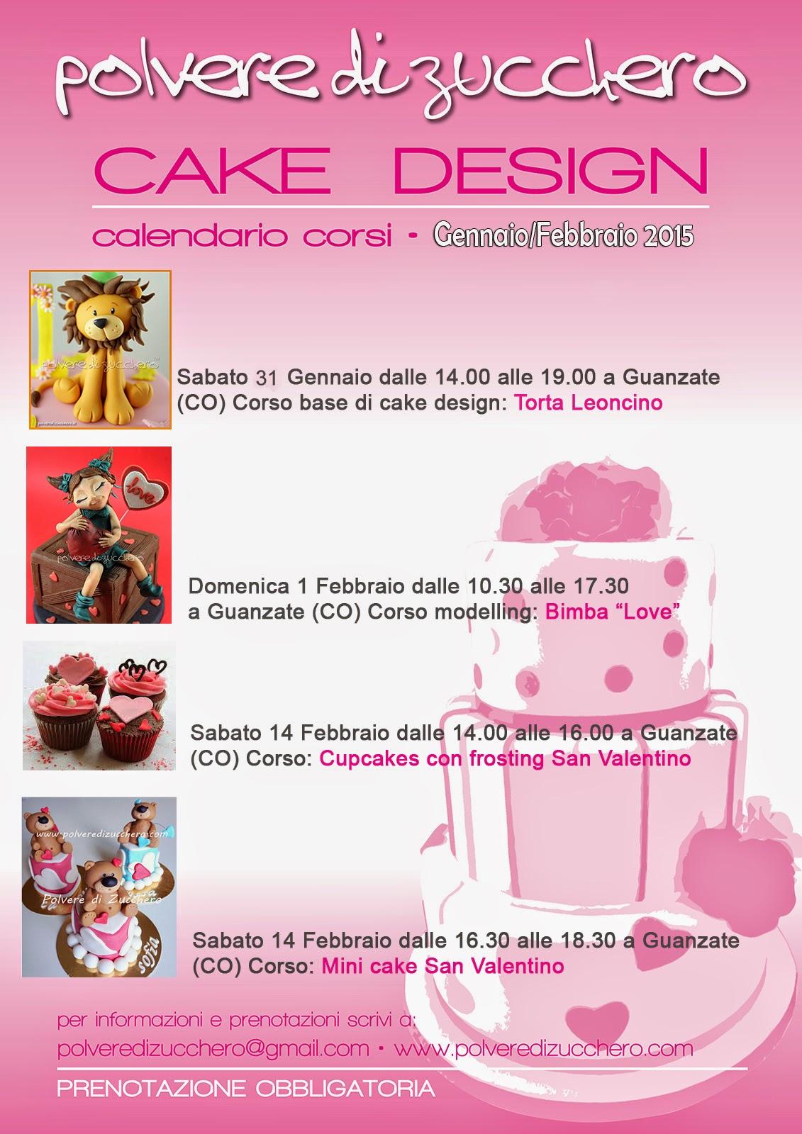 Corsi Cake Design Viareggio : Corsi di cake design: calendario gennaio, febbraio, marzo ...