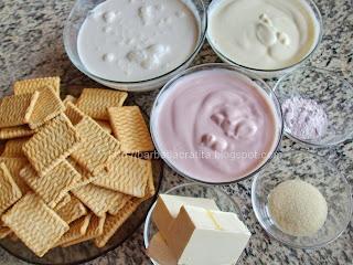 Tort de iaurt fructe cu blat biscuiti ingrediente