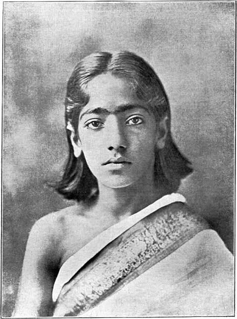 Jiddu Krishnamurti a los 12 años