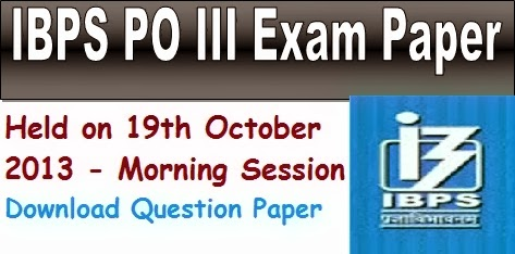 ... held on 19th october, #ibpsexampaper, #ibps po question paper, ibps.in