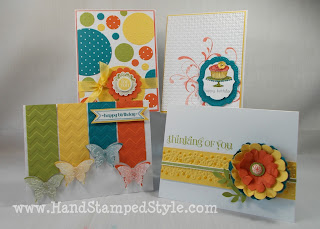 punches, embossing folders, glitter, simple cards, clean and simple