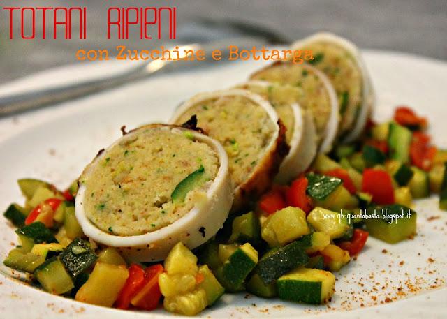 Q.b.-Quanto Basta.: Totani ripieni con zucchine, pomodorini e bottarga