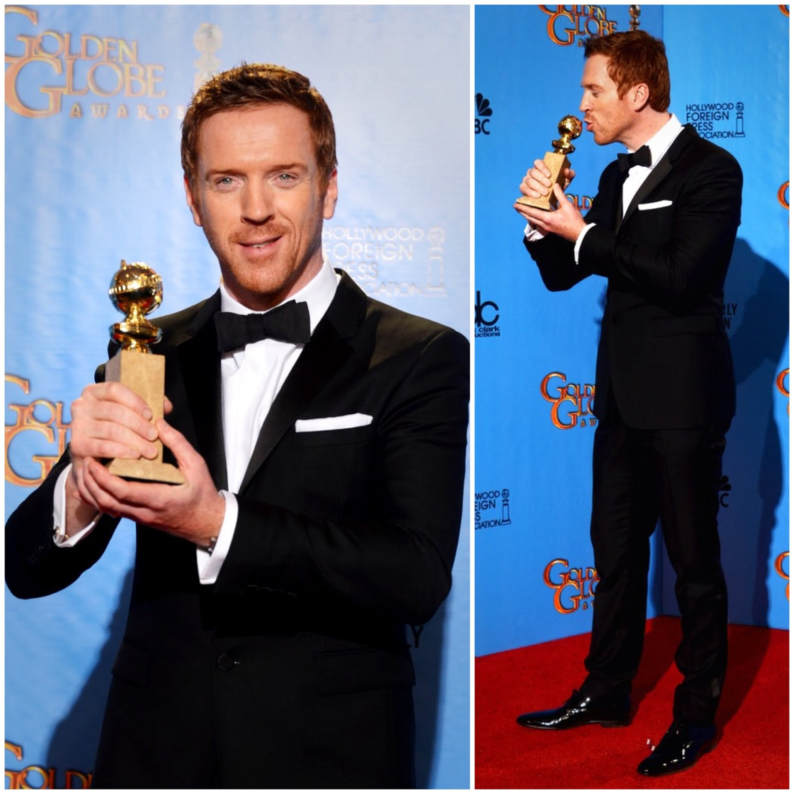 00O00 Menswear blog Damian Lewis in Burberry - 70th Annual Golden Globe Awards