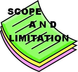scope and limitation in thesis Example of scope and delimitation for research paper on studymoose  it is focused on the network management used by the it staff as a subject for our thesis the.