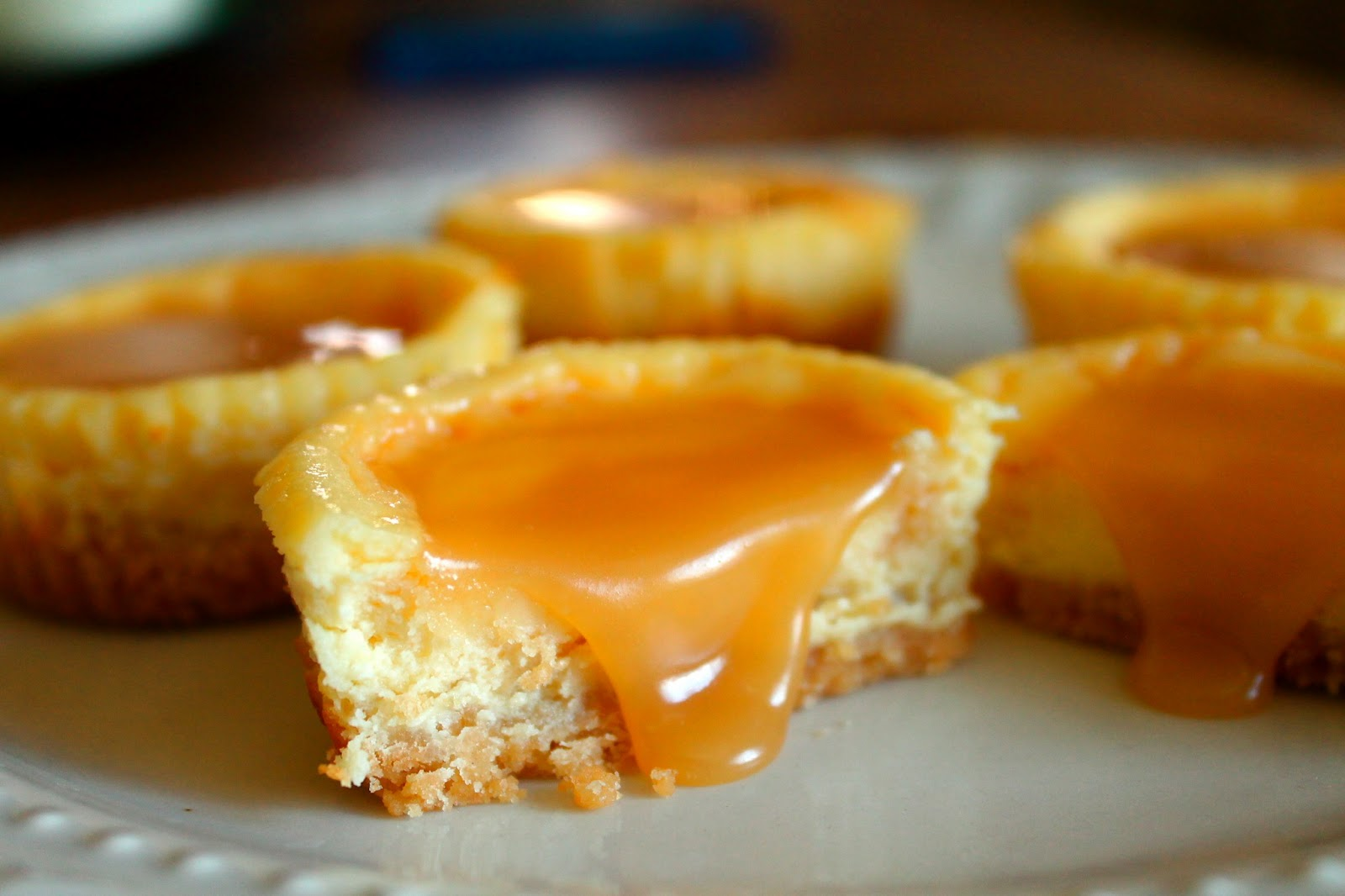 Mini Salted Caramel Cheesecakes with a Shortbread Cookie Crust ...