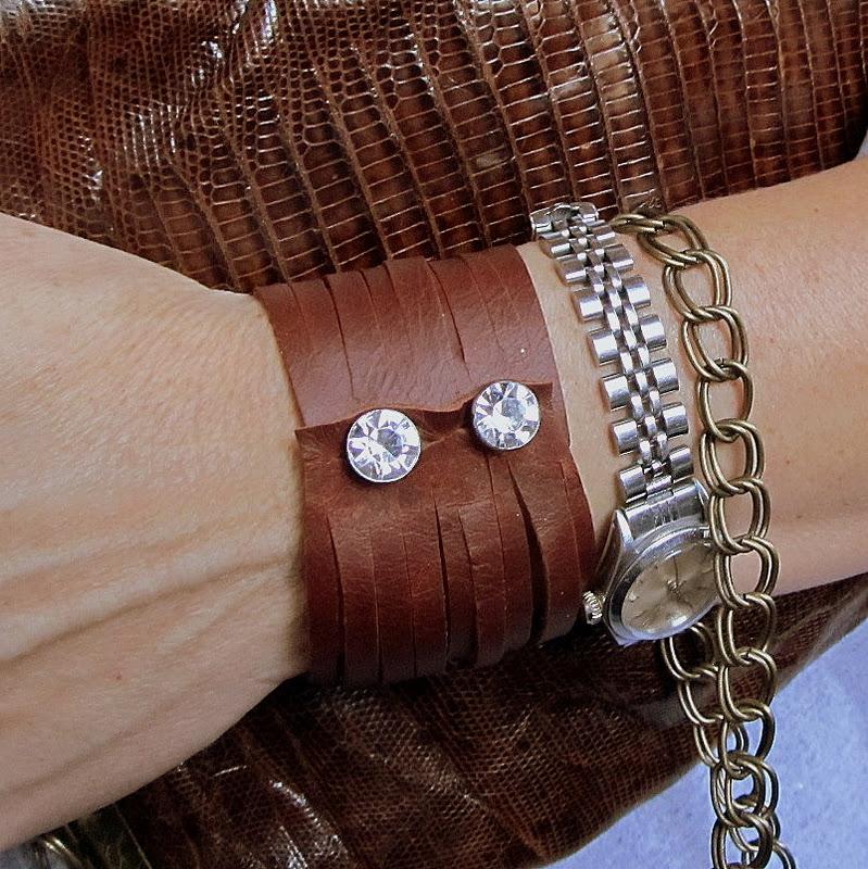 wobisobi leather cuff bracelet diy. Black Bedroom Furniture Sets. Home Design Ideas