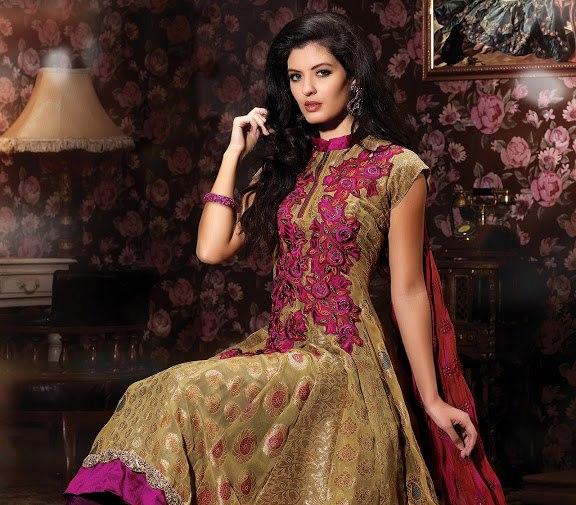 Anarkali Designer Bridal Dress Collection 2013