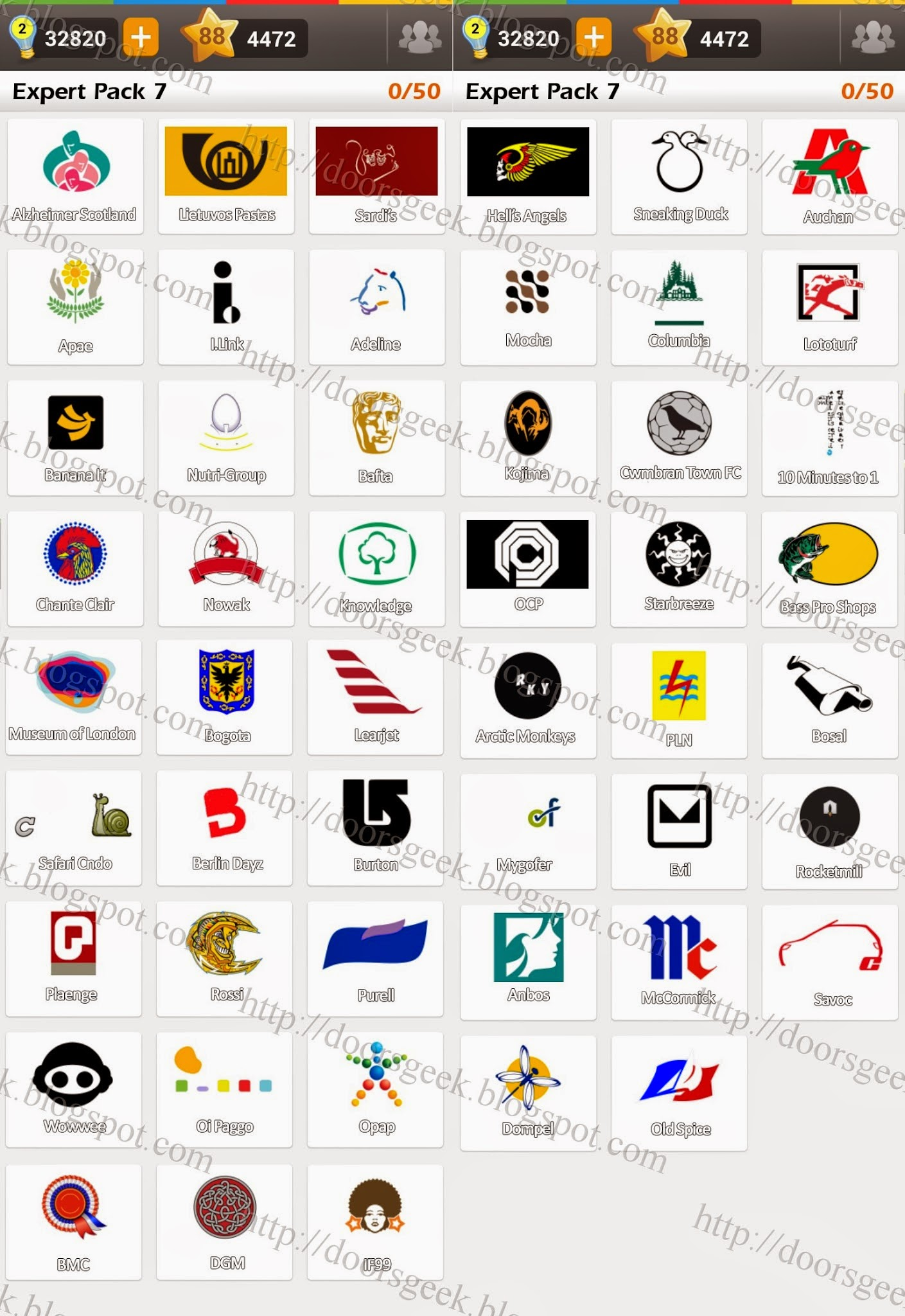 Logo game guess the brand bonus cars chainimage - Answers In Expert Pack 7 Are