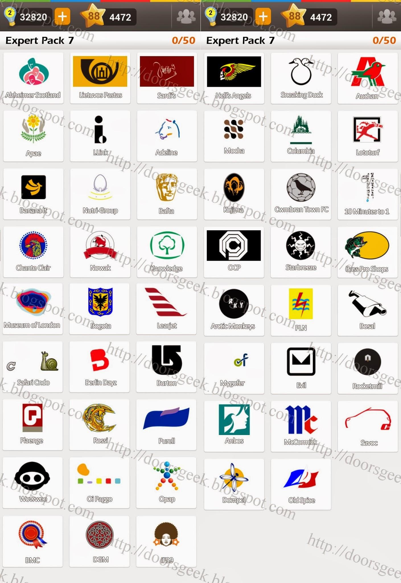 logo game guess the brand expert pack 7 doors geek