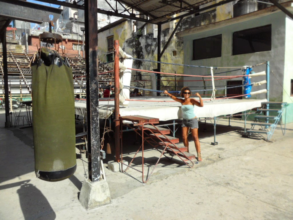 An image of the Rafael Trejo boxing gym in Old Havana