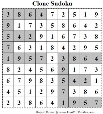 Clone Sudoku (Daily Sudoku League #112)