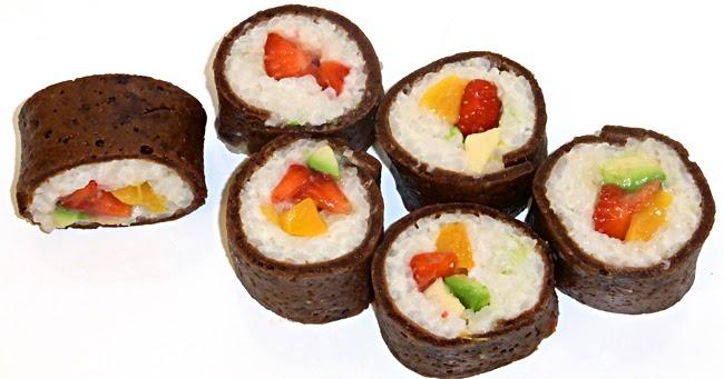 himmlische s igkeiten s es sushi fr chte futomaki. Black Bedroom Furniture Sets. Home Design Ideas