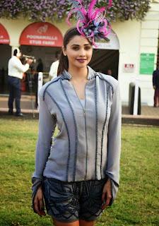 Daisy Shah looks gorgeous in shorts at Mahalaxmi at Poonawala Race, Mumbai