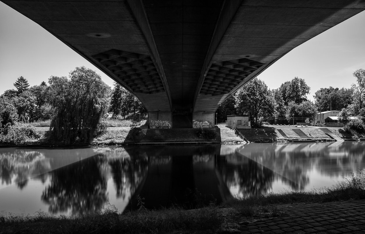matthew g beall vision driven black and white fine art photography The Bridge over the Danube river, donau,  ulm, germany 2014