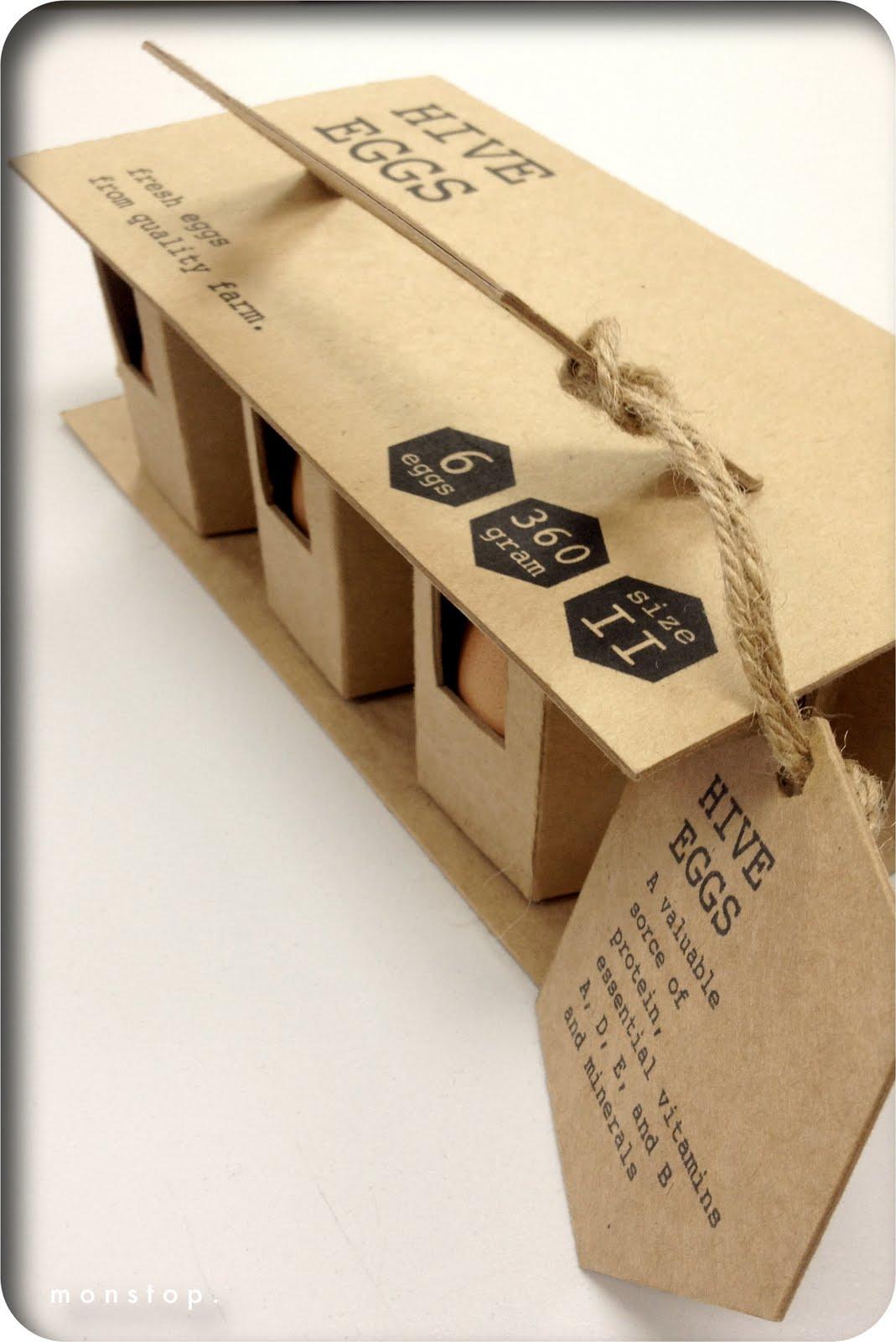 m o n s t o p packaging design egg packaging