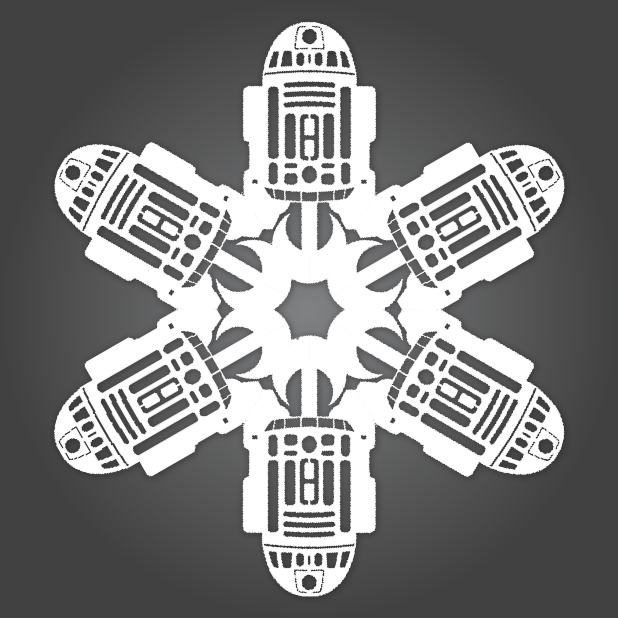 ... Snowing Star Wars! 10 new DIY Star Wars Paper Snowflake Templates