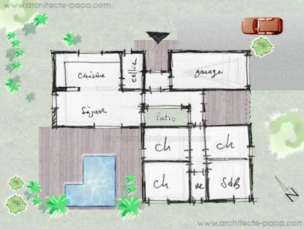 Plan de maison gratuit a la reunion for Plan maison en y