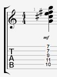 Em69 guitar chord