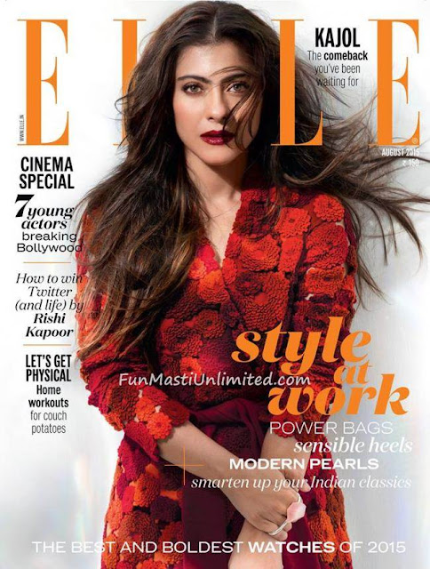 Actress @ Kajol - Elle India, August 2015