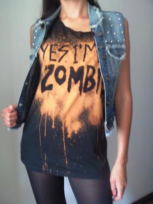 jeans ćwieki galaxy pocięta koszulka kamizelka diy rock