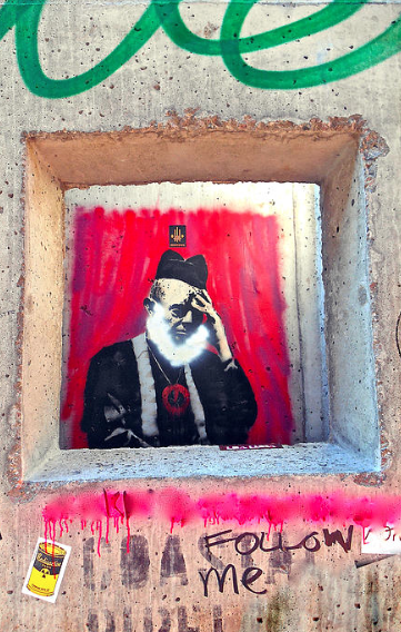 """Banksy"" Graffiti NYC"