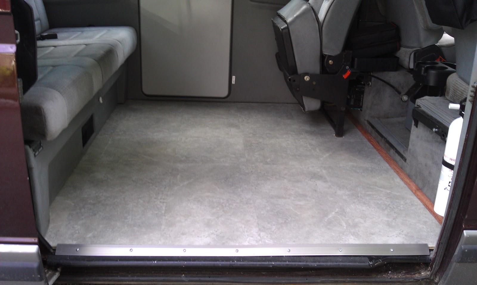 Trip And Photo Blog Vanagon Upgrades New Tile Floor Installation