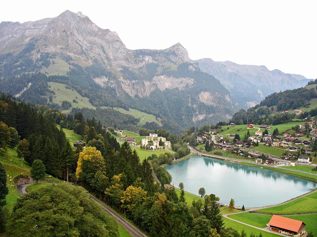 small lake in Switzerland