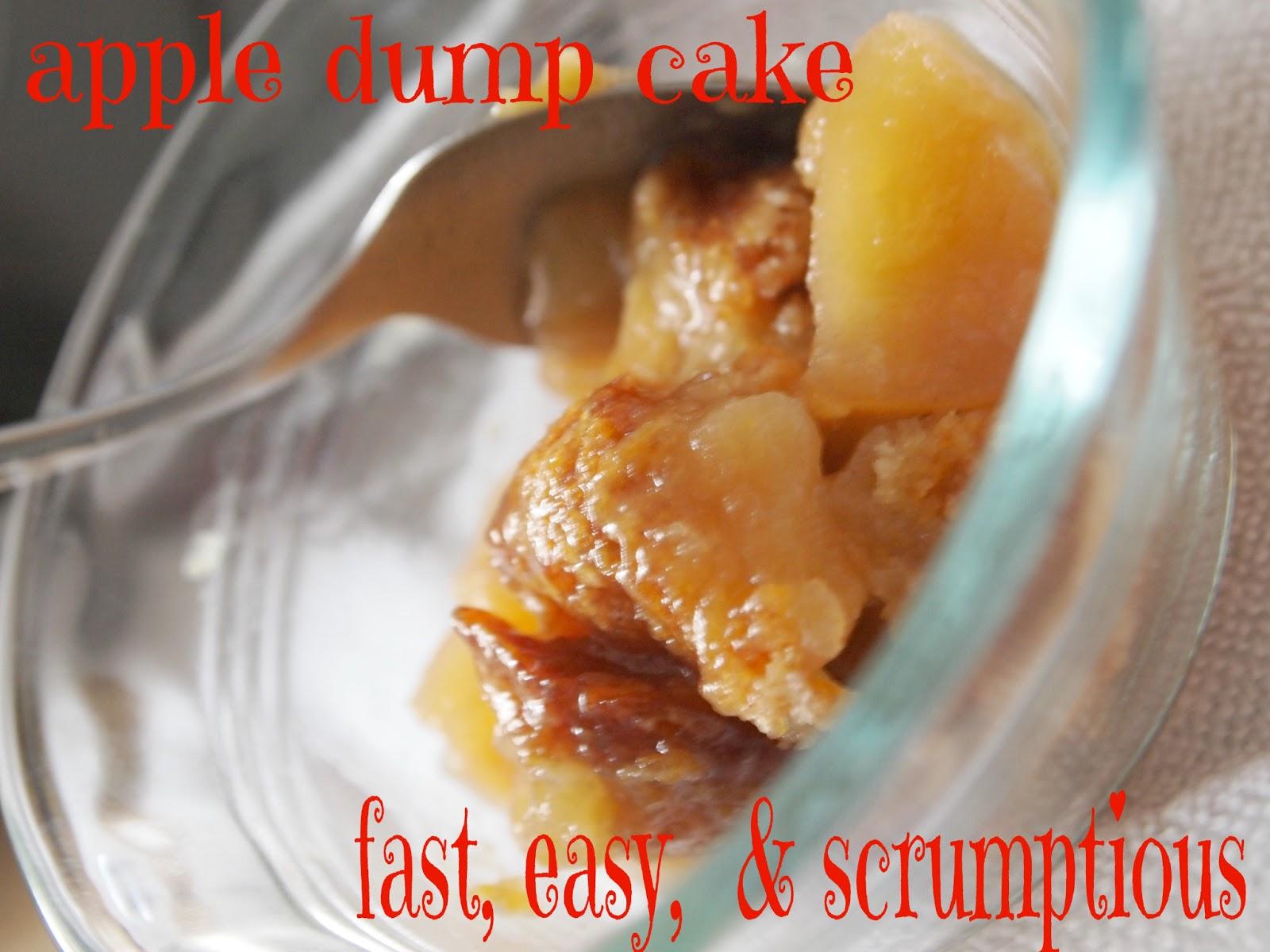 Dump Cake Apple Pecan
